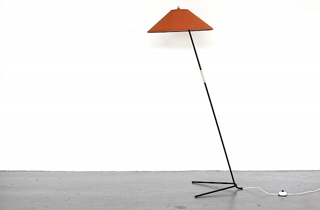Mid Century Modern Floor Lamp Model Hase HP by J.T. Kalmar for Kalmar of Austria_Gallery