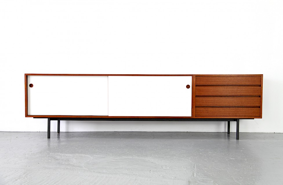Teak and Formica Sideboard Credenza by Walter Wirz for Wilhelm Renz 1950_Made in Germany_Gallery