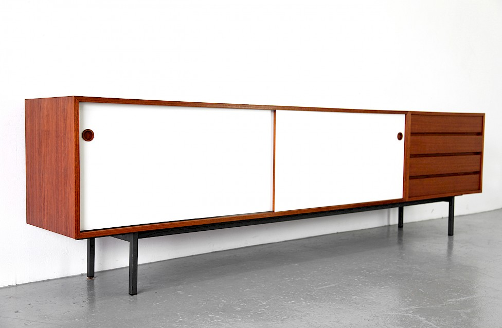 Teak and Formica Sideboard Credenza by Walter Wirz for Wilhelm Renz 1950_Made in Germany_1