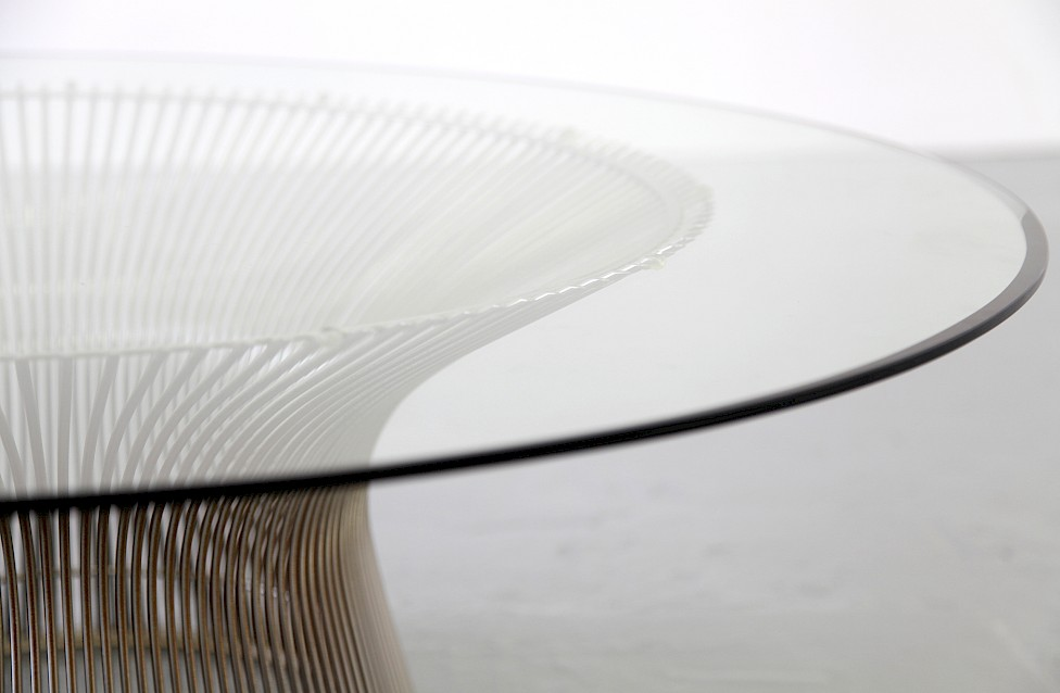 Circle Glass Coffee Table / Couchtisch by Warren Platner for Knoll International 1966_Gallery