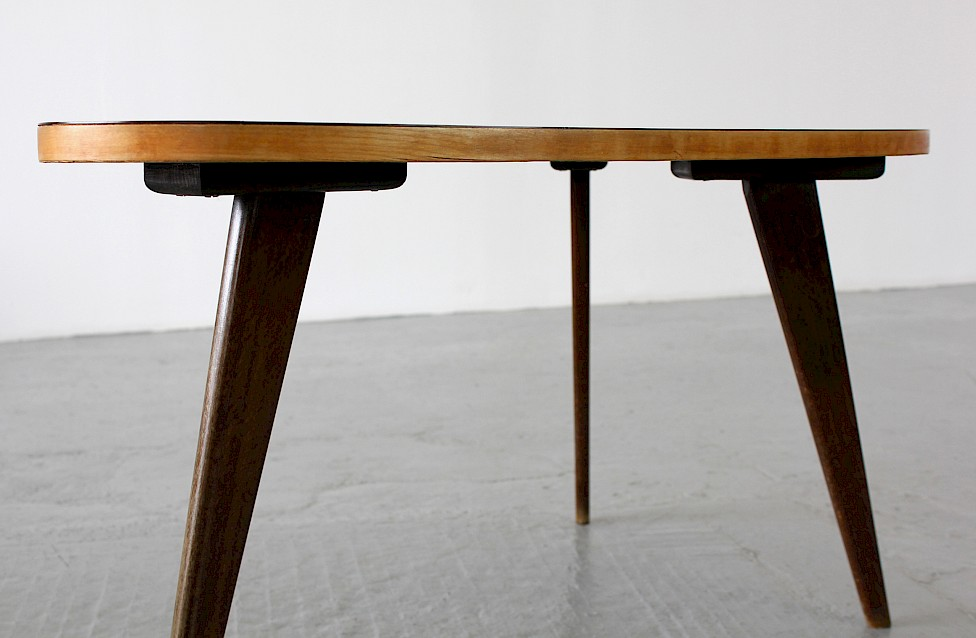 Three Legged Coffee Couchtisch Table By Hans Bellmann For Domus 1