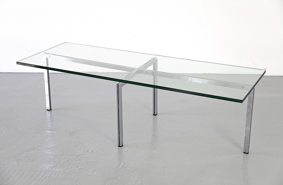 Mid Century Modern Glass Coffe Table / Couchtisch by Hans Kaufeld, 1957 - Made in Germany_Gallery
