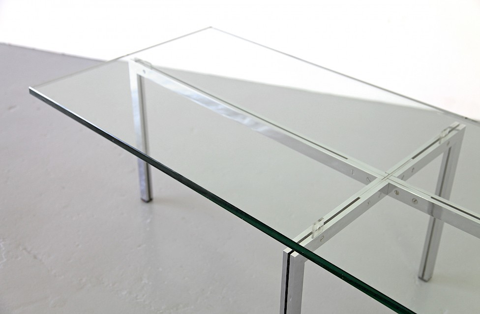 Mid Century Modern Glass Coffe Table / Couchtisch by Hans Kaufeld, 1957 - Made in Germany_1