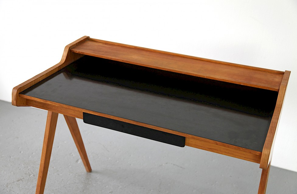 Mid Century Modern Formica Writing Desk / Schreibtisch by Helmut Magg for WK, 1952 - Made in Germany_3