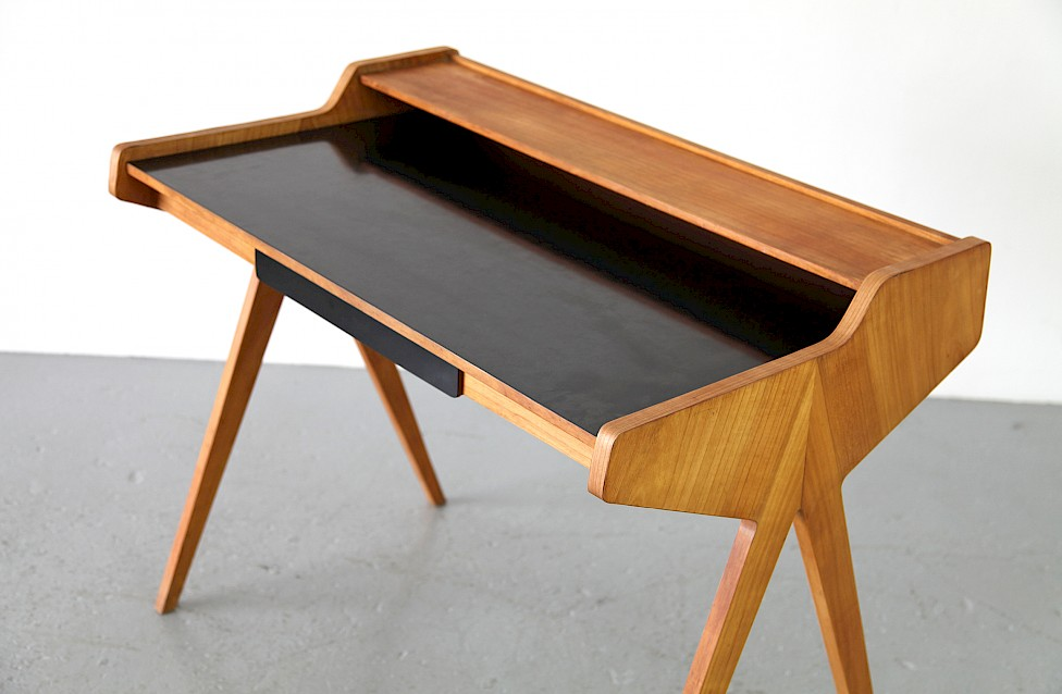 Mid Century Modern Formica Writing Desk / Schreibtisch by Helmut Magg for WK, 1952 - Made in Germany_4