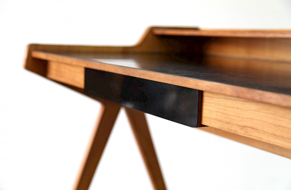 Mid Century Modern Formica Writing Desk / Schreibtisch by Helmut Magg for WK, 1952 - Made in Germany_2