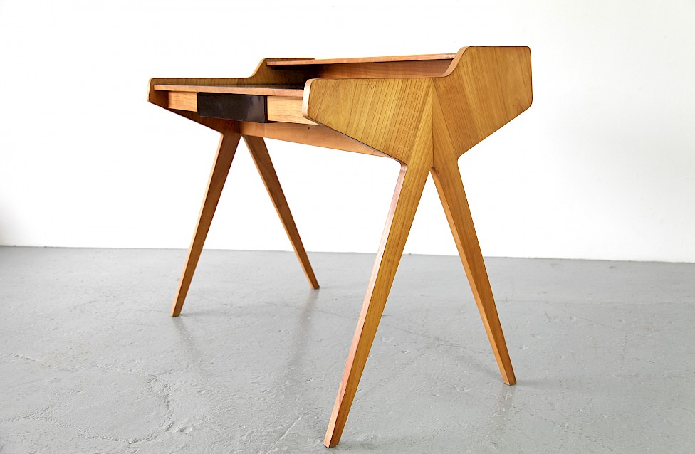 Mid Century Modern Formica Writing Desk / Schreibtisch by Helmut Magg for WK, 1952 - Made in Germany_5