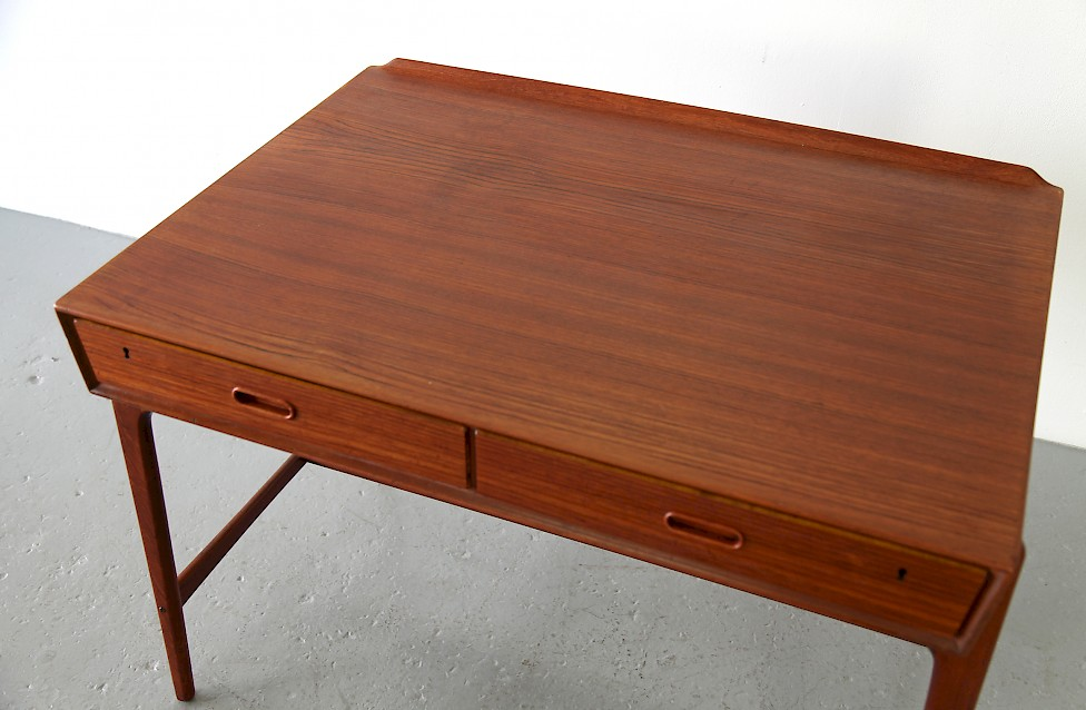 Freestanding Teak Writing Desk / Schreibtisch by Svend Aage Madsen, 1958 - Made in Denmark_4