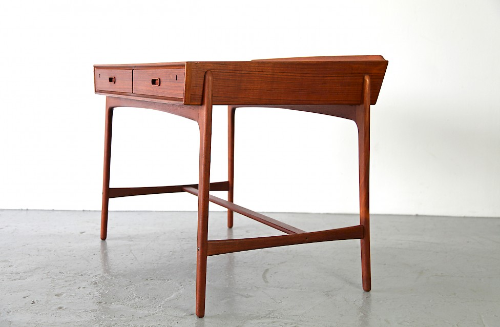 Freestanding Teak Writing Desk / Schreibtisch by Svend Aage Madsen, 1958 - Made in Denmark_1