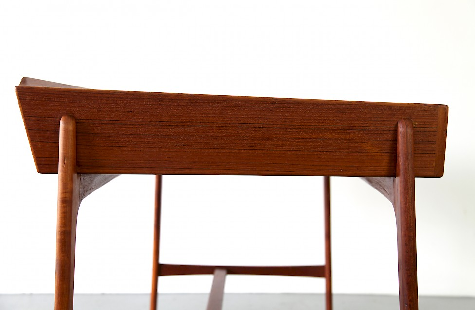 Freestanding Teak Writing Desk / Schreibtisch by Svend Aage Madsen, 1958 - Made in Denmark_2