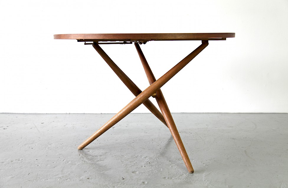 Height-adjustable Table Ess-Tee-Tisch by Jürg Bally for Wohnhilfe, 1951 - Made in Switzerland_Gallery