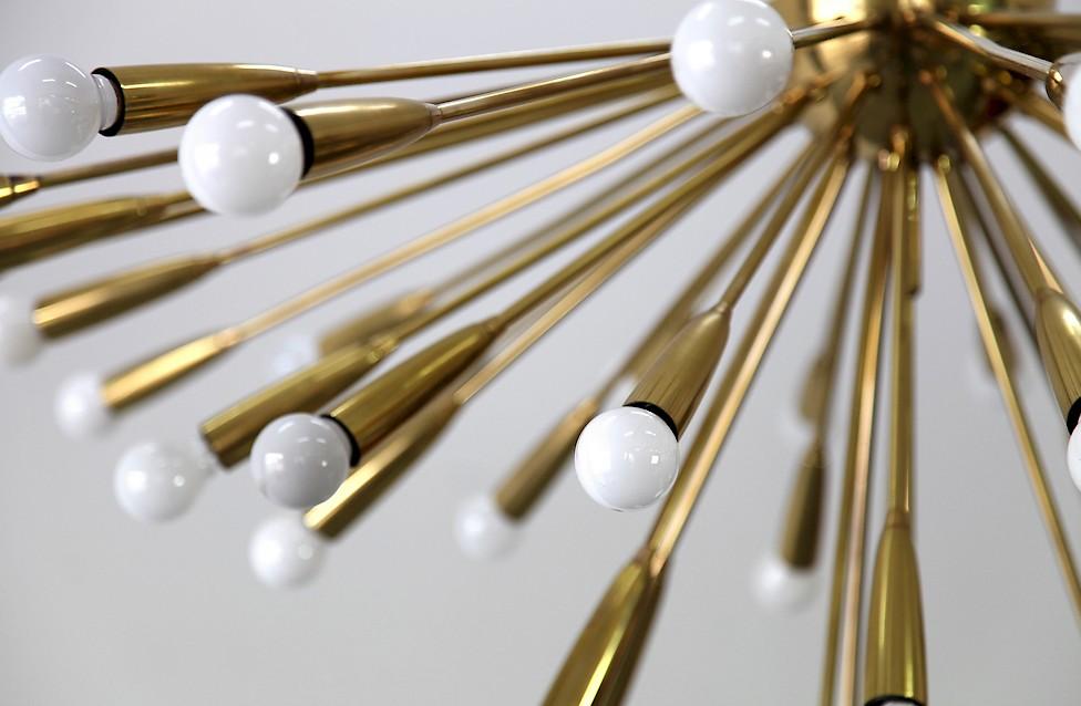Mid Century Modern Brass Sputnik Chandelier from 1950s 50s - Made in Germany_Gallery
