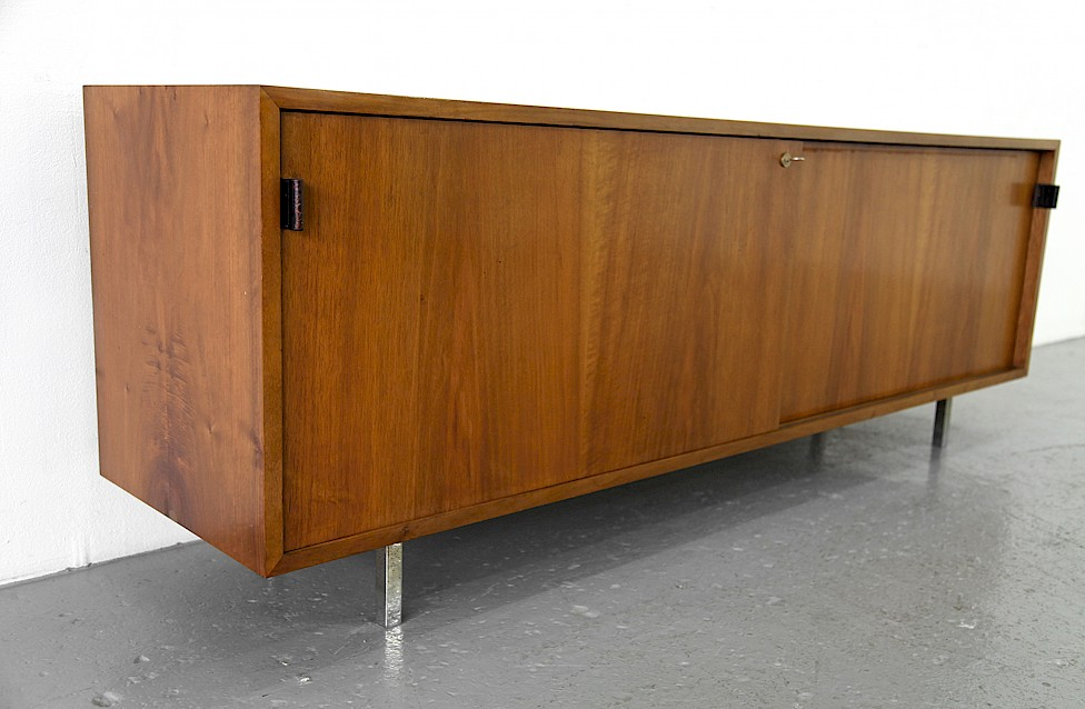 Mid Century Modern Walnut Credenza by Florence Knoll for Knoll International_1