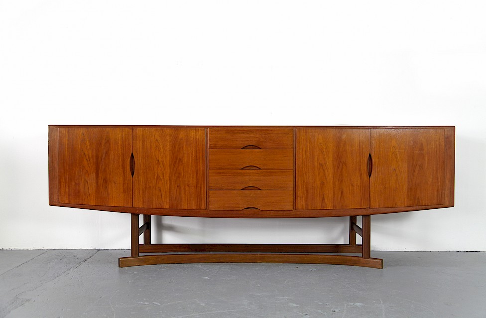 Danish ModernTeak Sideboard Model HB 20 by Johannes Andersen for Hans Bech 1968 - Made in Denmark_1