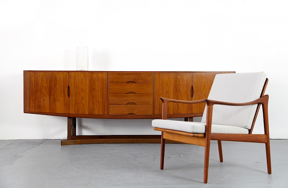Danish ModernTeak Sideboard Model HB 20 by Johannes Andersen for Hans Bech 1968 - Made in Denmark_10