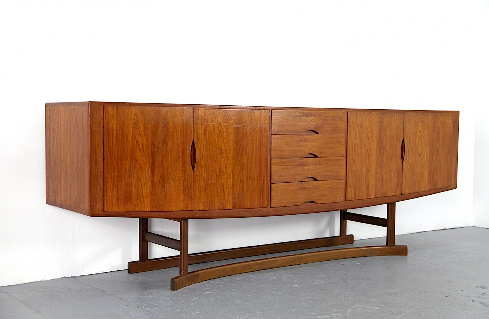 Danish ModernTeak Sideboard Model HB 20 by Johannes Andersen for Hans Bech 1968 - Made in Denmark_Gallery