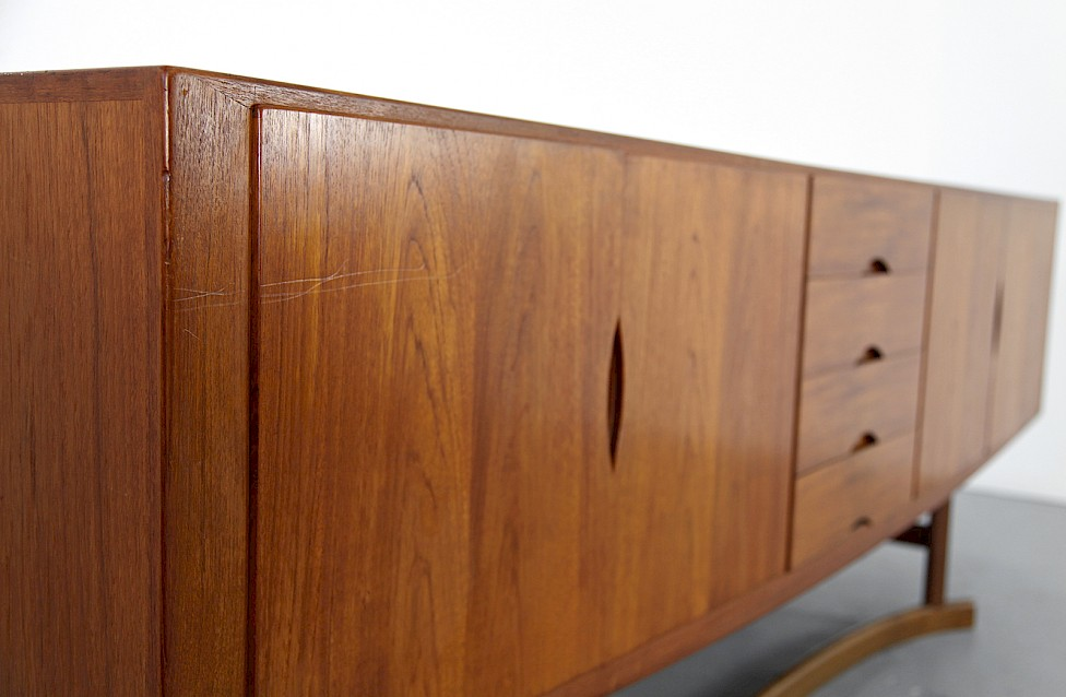 Danish ModernTeak Sideboard Model HB 20 by Johannes Andersen for Hans Bech 1968 - Made in Denmark_4