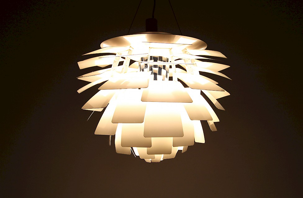 Danish Modern Poul Henningsen Artichoke Pendel produced by Louis Poulsen - Made in Denmark_2