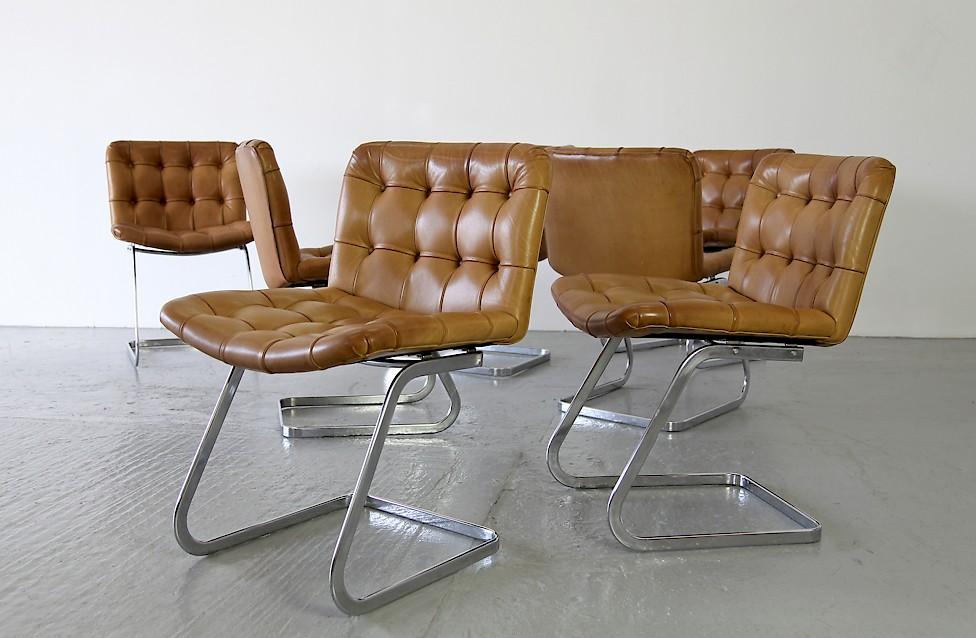 de sede echtleder freischwingerst hle adore modern. Black Bedroom Furniture Sets. Home Design Ideas