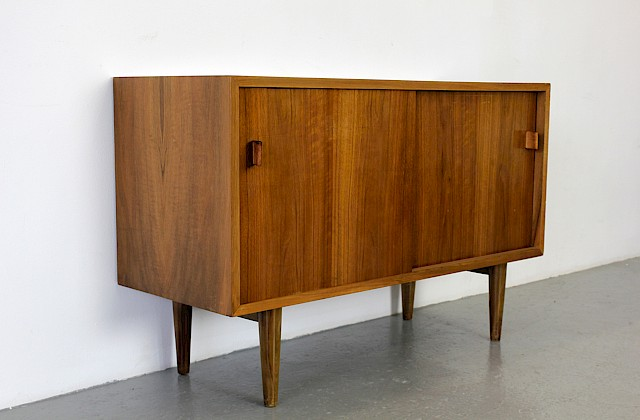 Mid Century Modern Birch Wood Sideboard 207 with leather handles by Helmut Magg for Deutsche Werkstätten - Made in Germany_Gallery