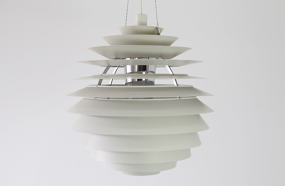 Danish Modern PH Louvre Pendant by Poul Henningsen for Louis Poulsen, 1958 - Made in Denmark_Gallery