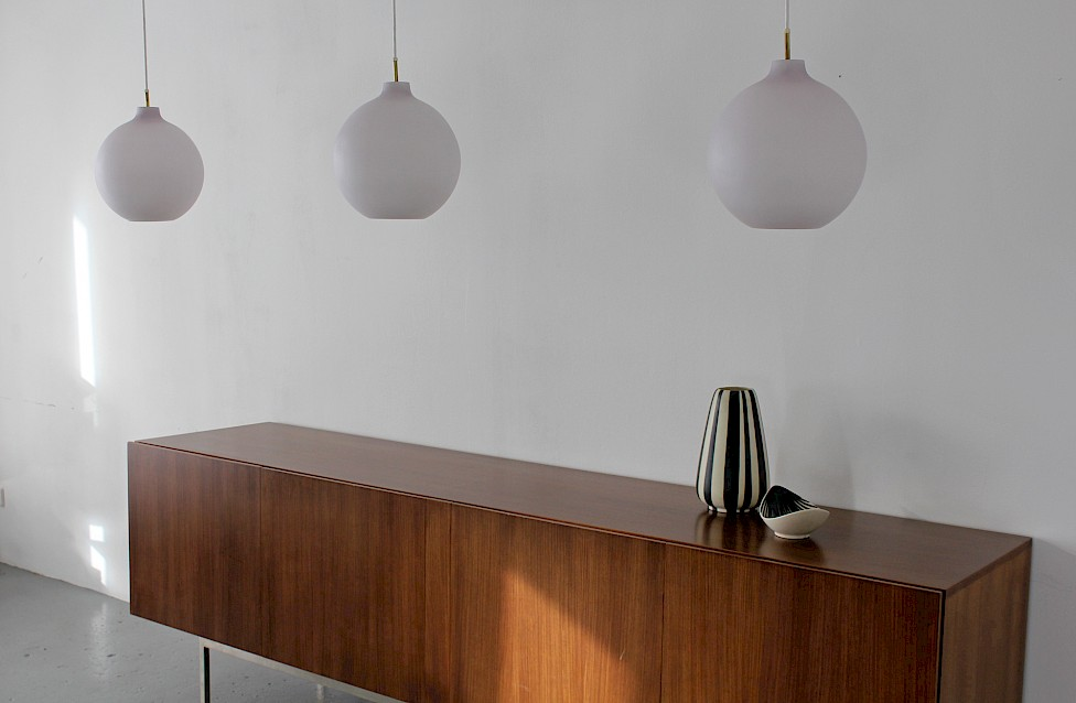 "Danish Modern Glass ""Satellit"" Pendant Lamp by Vilhelm Wohlert for Louis Poulsen - Made in Denmark_3"