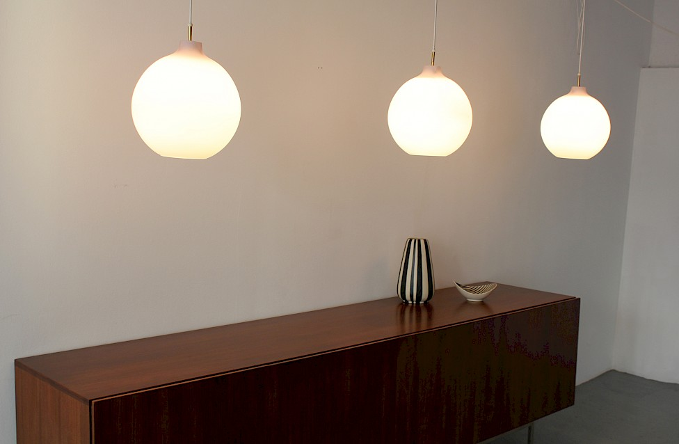 "Danish Modern Glass ""Satellit"" Pendant Lamp by Vilhelm Wohlert for Louis Poulsen - Made in Denmark_4"
