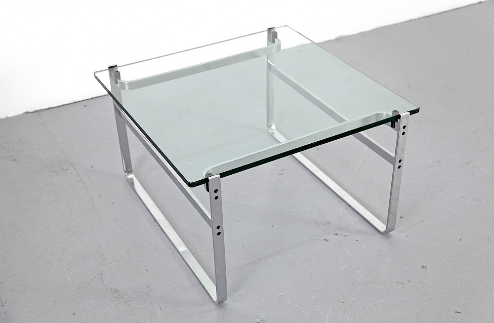 Side Coffee Table Couchtisch Chrome And Glass Model Fabricius 710 By Preben For Walter