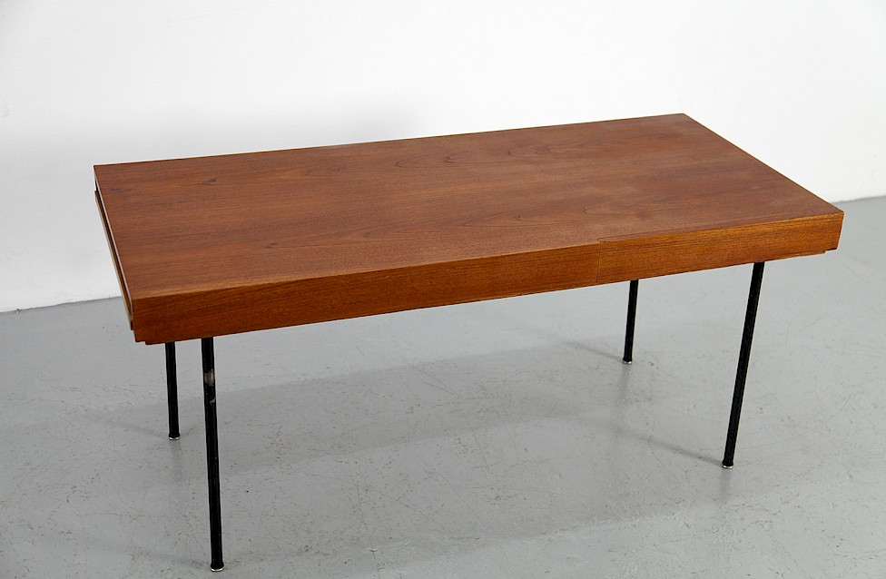 Mid Century Modern Teak Coffee Couchtisch Table Model 4652 By George Nelson For Herman Miller 2