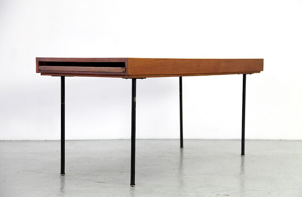Marvelous Mid Century Modern Teak Coffee / Couchtisch Table Model 4652 By George  Nelson For Herman Miller_8