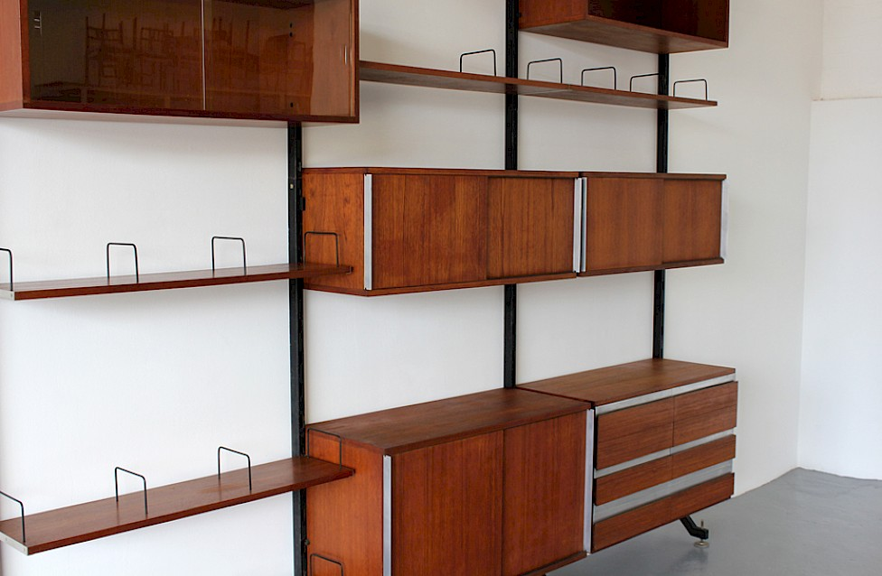 Wall Unit / Standing System Teak by Ico Parisi for MIM Roma - Made in Italy_Gallery