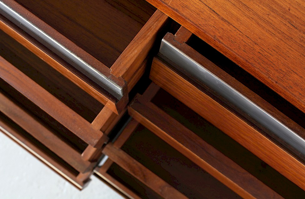 Wall Unit / Standing System Teak by Ico Parisi for MIM Roma - Made in Italy_12