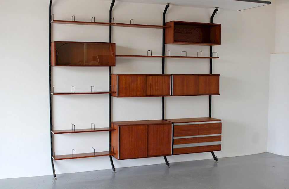 Wall Unit / Standing System Teak by Ico Parisi for MIM Roma - Made in Italy_13