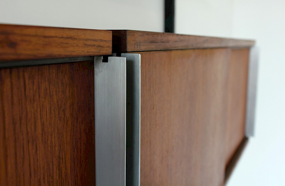 Wall Unit / Standing System Teak by Ico Parisi for MIM Roma - Made in Italy_8