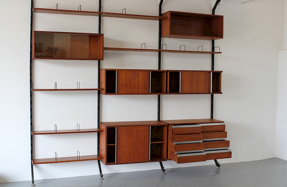 Wall Unit / Standing System Teak by Ico Parisi for MIM Roma - Made in Italy_9