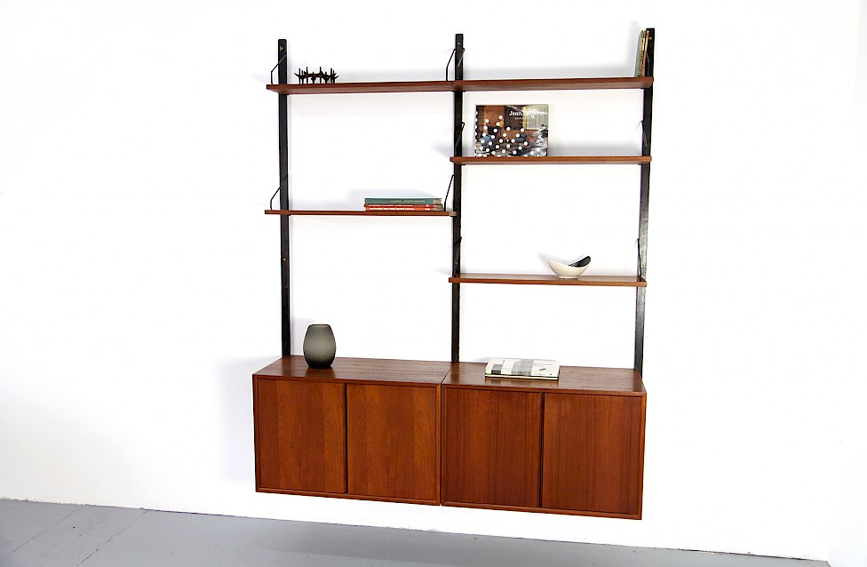 Royal System Teak Wall Unit Shelving System by Poul Cadovius for Cado - Made in Denmark_Gallery