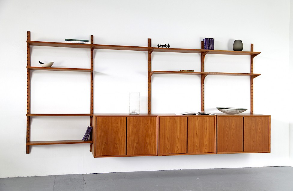 Teak Wall Unit Selving System Model Cado by Poul Cadovius for Cado - Made in Denmark_Gallery