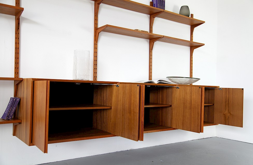 Teak Wall Unit Selving System Model Cado by Poul Cadovius for Cado - Made in Denmark_11