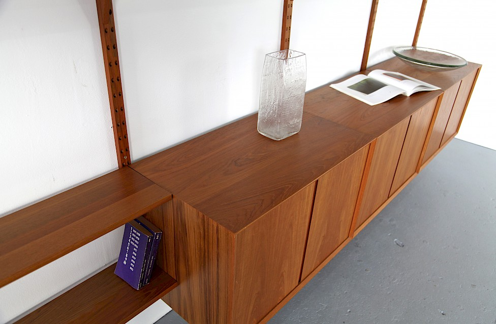 Teak Wall Unit Selving System Model Cado by Poul Cadovius for Cado - Made in Denmark_2