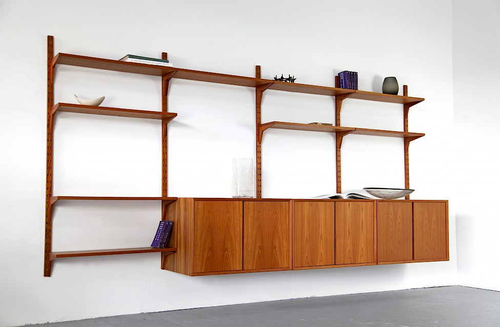 Teak Wall Unit Selving System Model Cado by Poul Cadovius for Cado - Made in Denmark_3