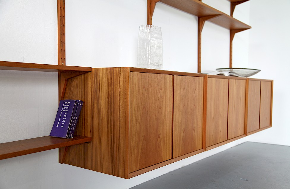 Teak Wall Unit Selving System Model Cado by Poul Cadovius for Cado - Made in Denmark_4