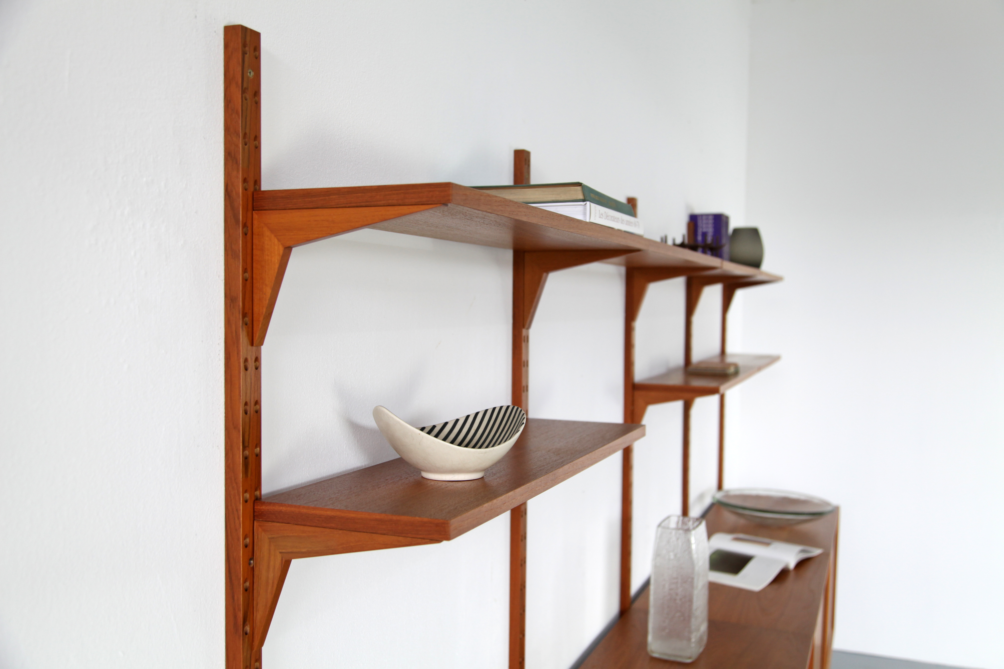 Teak Wall Unit Selving System Model Cado by Poul Cadovius for Cado - Made in Denmark_8