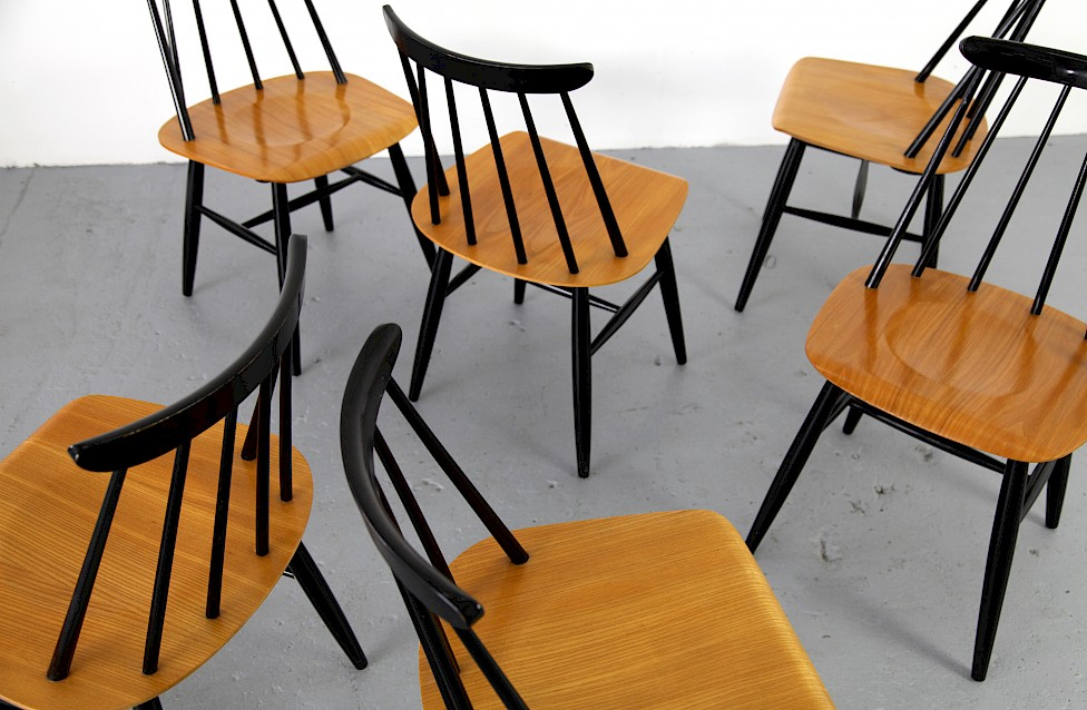 Ilmari Tapiovaara Dining Chairs By Asko Adore Modern