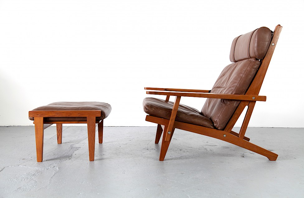 hans j wegner lounge chair with ottoman adore modern