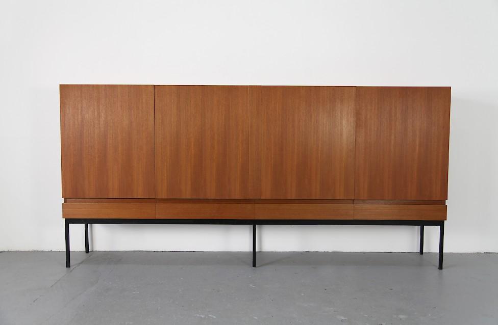 mid century modern teak highboard sideboard by dieter waeckerlin for behr moebel germany model b60 8