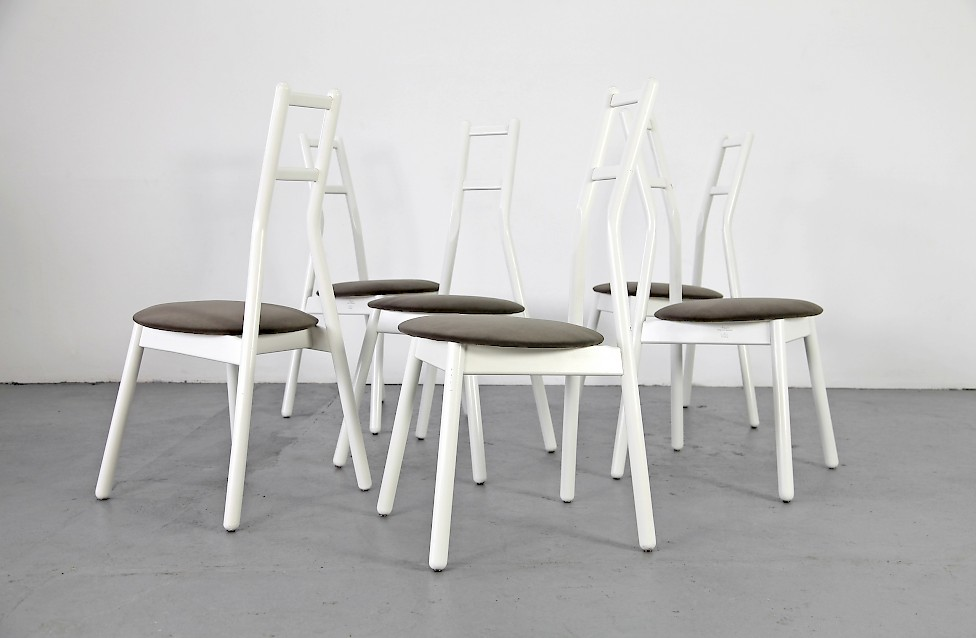 set holz st hle von vico magistretti f r rosenthal adore modern. Black Bedroom Furniture Sets. Home Design Ideas
