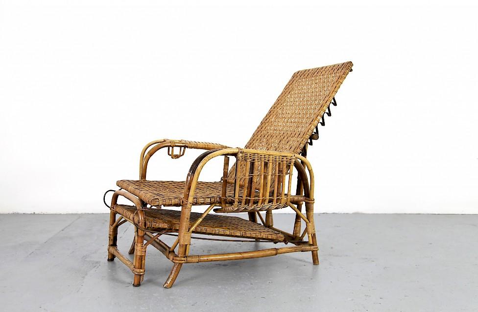 Bamboo Rattan Garde Lounger By Erich Dieckmann Adore Modern