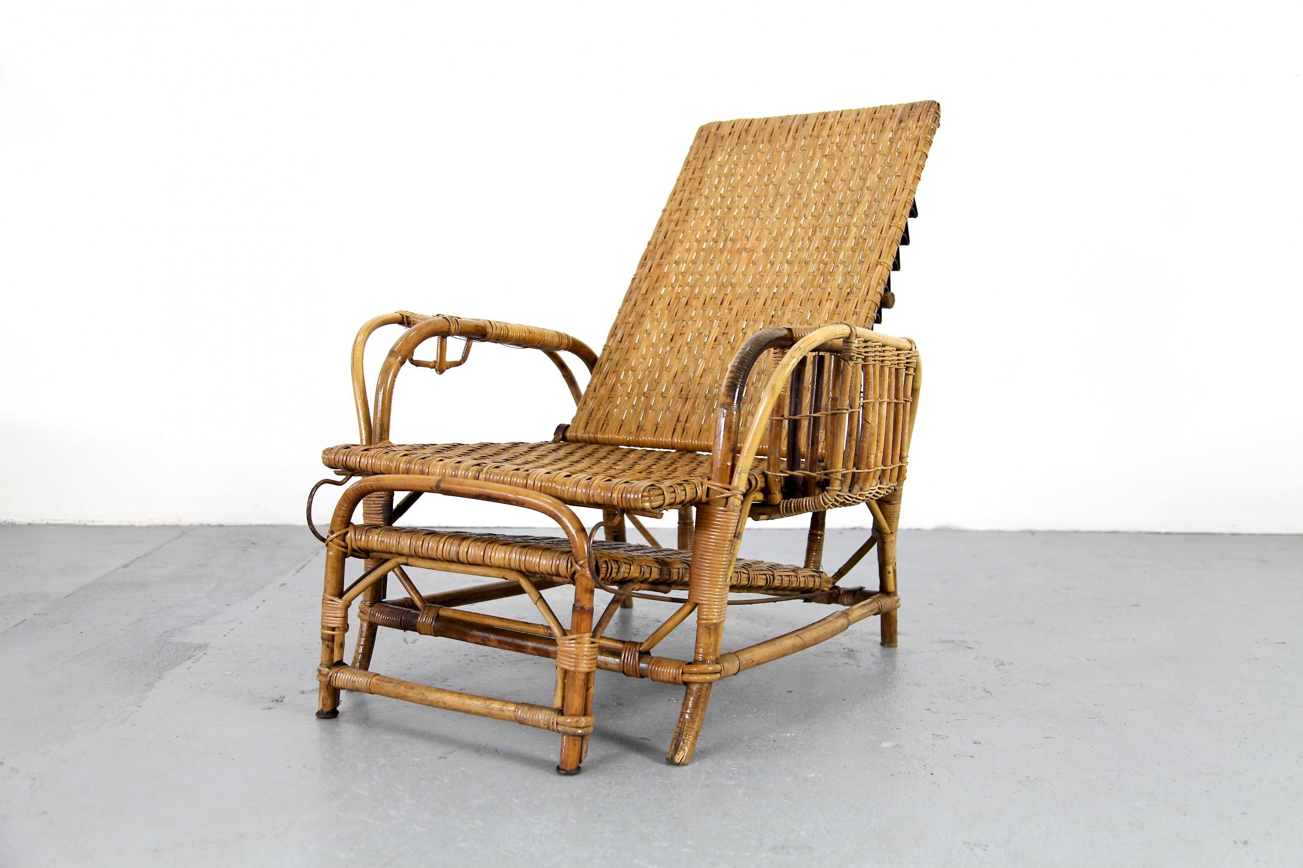 Bamboo Amp Rattan Garde Lounger By Erich Dieckmann Adore