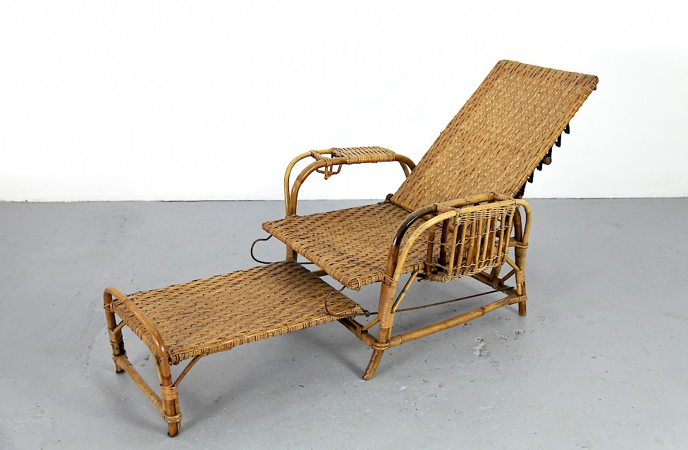 bambus rattan gartenliege von erich dieckmann adore modern. Black Bedroom Furniture Sets. Home Design Ideas