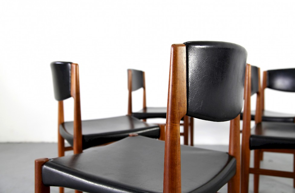 d nisches set teakholz st hle mit skai bezogen von glostrup adore modern. Black Bedroom Furniture Sets. Home Design Ideas